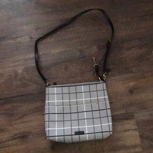 Fossil plaid cross body